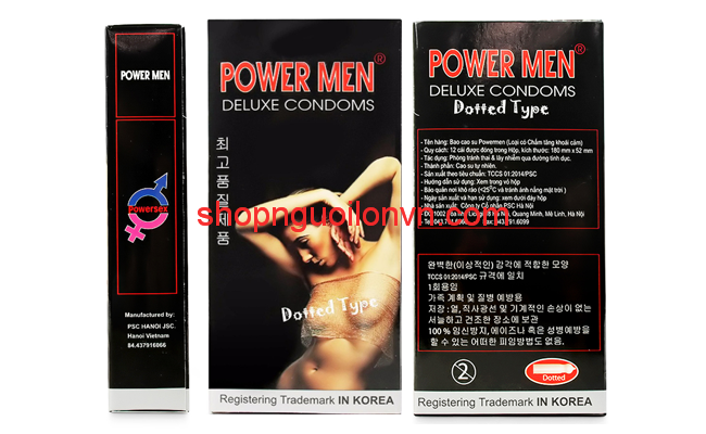 Bao Cao Su Gai, Bi Power Men Dotted