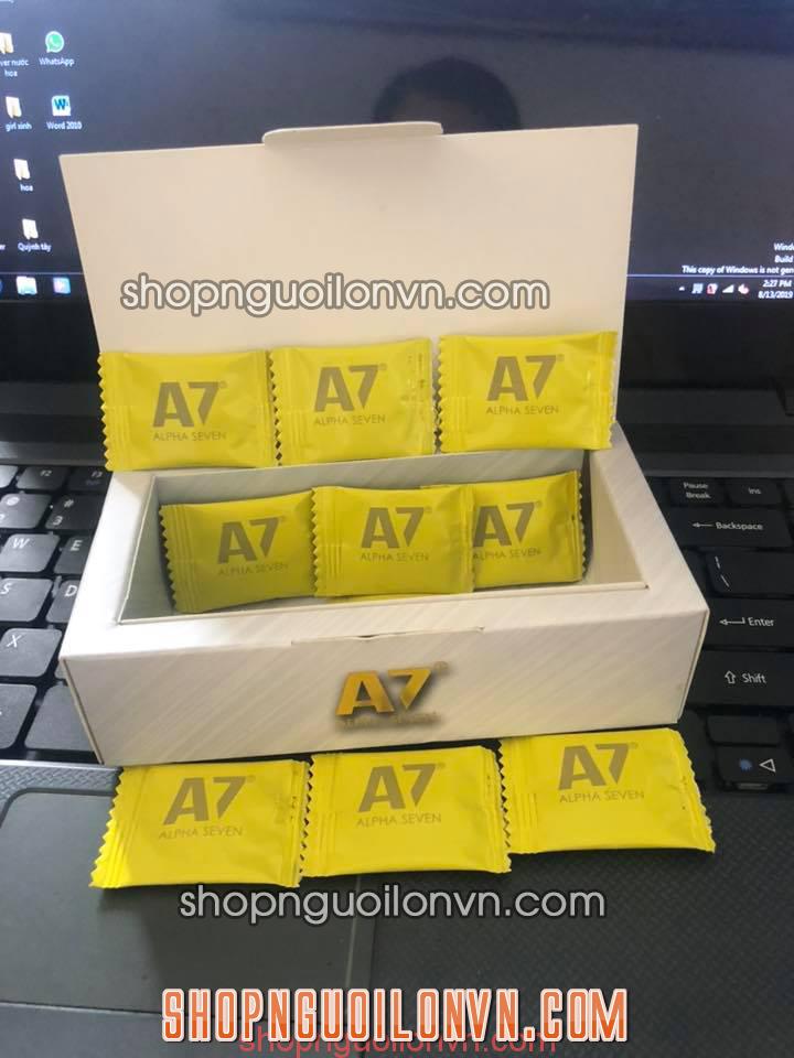 Thông tin về kẹo Kẹo A7 Alpha Seven – Sản xuất tại Mỹ