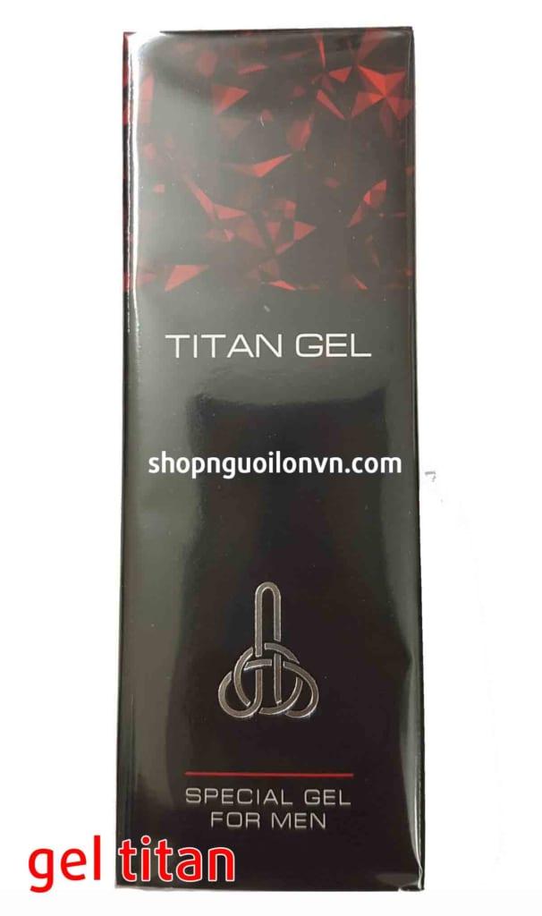 Dương vật to khỏe tự nhiên bằng gel titan
